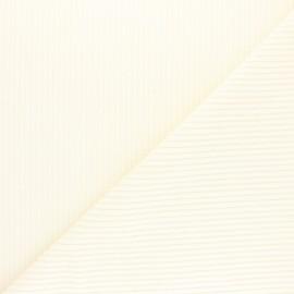 Tissu velours grosses côtes écru x10cm