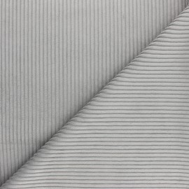 Thick ribbed velvet fabric - grey x 10cm