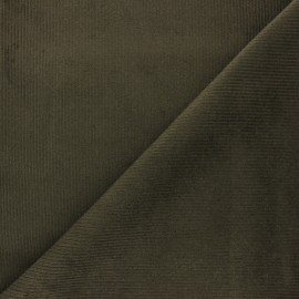 Ribbed velvet fabric Dustin - Army green x 10cm