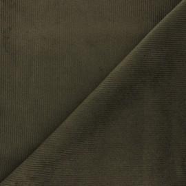 Tissu velours 500 raies élasthanne Destiny - vert militaire x 10cm
