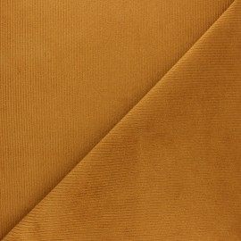 Ribbed velvet fabric Dustin - Caramelo x 10cm
