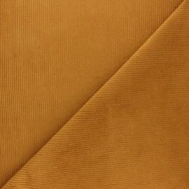 Tissu velours 500 raies élasthanne Dustin - vert kaki x 10cm