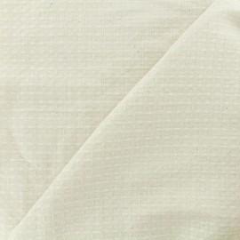 Tissu éponge nid d'abeille recto-verso naturel x 10cm