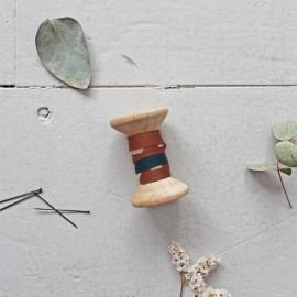20mm Bias binding - Posie Chesnut Atelier brunette x 1m