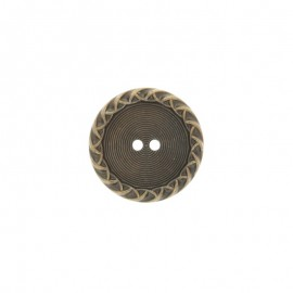 Metal Paulette button - bronze