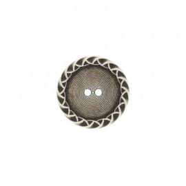 Bouton métal Paulette - argent