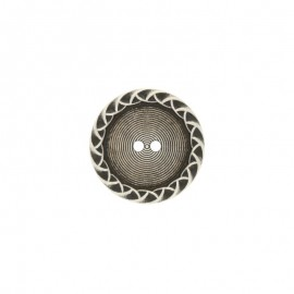 Metal Paulette button - silver