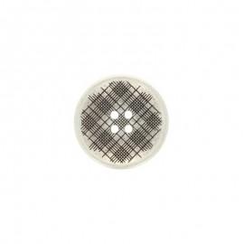 Metal Square button - silver