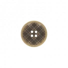 Metal Square button - bronze