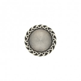 Metal rounded Paulette button - silver