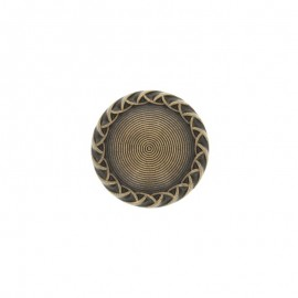23 mm Metal rounded Paulette button - bronze