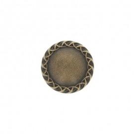 Bouton métal bombé Paulette 23 mm- bronze
