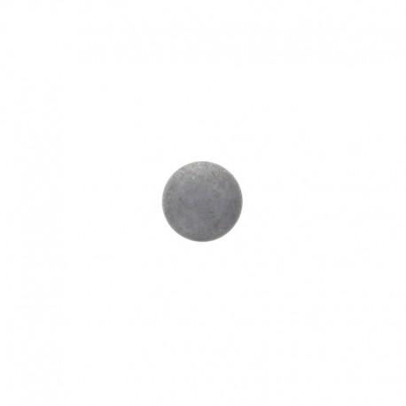 12 mm Metal Piselli button - grey