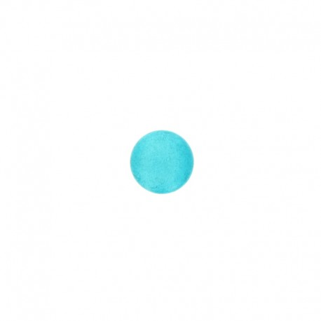 12 mm Metal Piselli button - turquoise