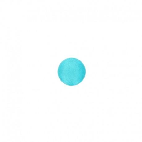 Bouton métal Piselli 12 mm - turquoise