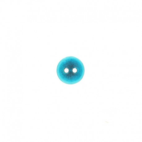 11 mm Metal Piccola button - turquoise