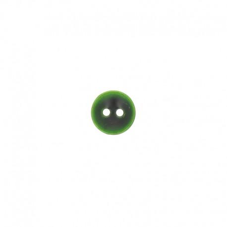 Bouton métal Piccola 11 mm - vert foncé