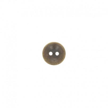Metal Essenziale button - bronze