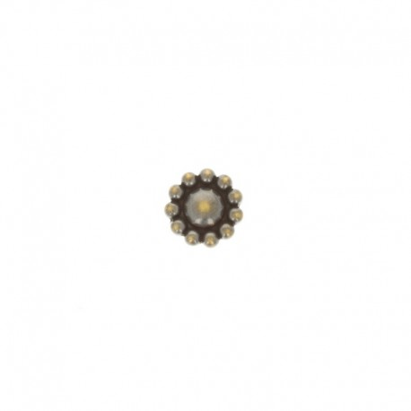 Metal Fiore button - bronze