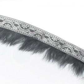 Galon fourrure gris argent x 50 cm