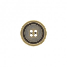 Polyester Napoli button - bronze