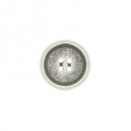 Polyester Napoli button - silver