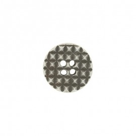 Bouton polyester Cialda - argent
