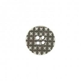 Polyester Cialda button - silver