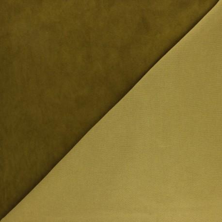 Stretch Lambskin Leather - Military Green Velvet Magisco