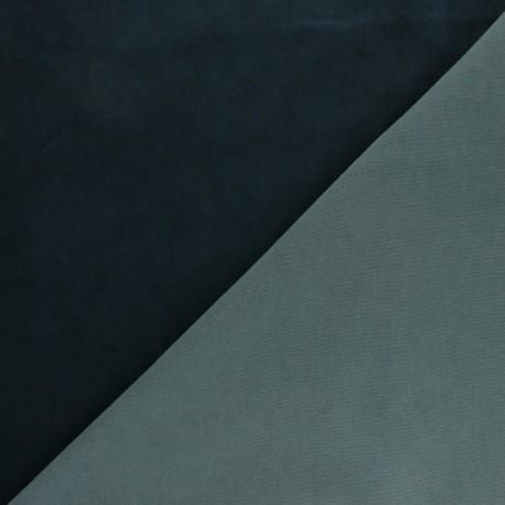 Peau Cuir Stretch Magisco Velours - Bleu Marine