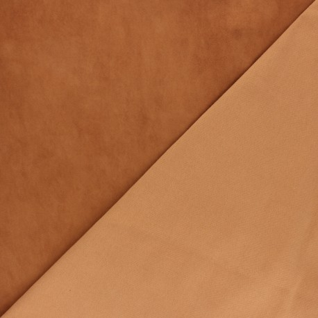 Stretch Lambskin Leather - Cognac Velvet Magisco