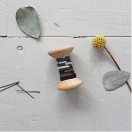 Atelier Brunette Piping Cord - Posie Smokey x 1m
