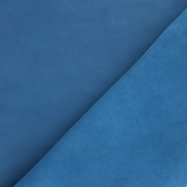 Peau d'Agneau Cuir Véritable - bleu houle