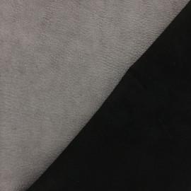 Peau d'Agneau Cuir Véritable Daim - Noir