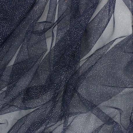 Tissu tulle souple pailleté Fantasy - rouge x10cm