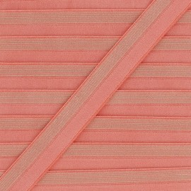 18 mm Striped Lurex Lingerie Elastic Bias - Blue x 1m