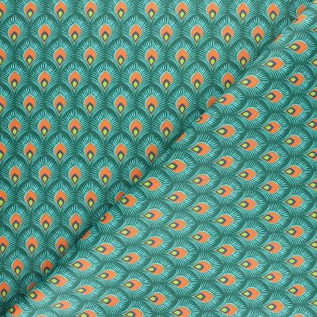 Tissu coton cretonne Velda - Rouge x 10cm