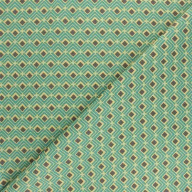 Cretonne cotton fabric - Green Naloom x 10cm