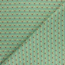 Tissu coton cretonne Naloom - vert x 10cm