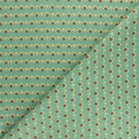 Cretonne cotton fabric - red Velda x 10cm