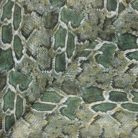 Snake Imitation leather fabric - Brown Merope x 10cm