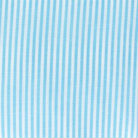 Small stripe fabric - turquoise x 10cm