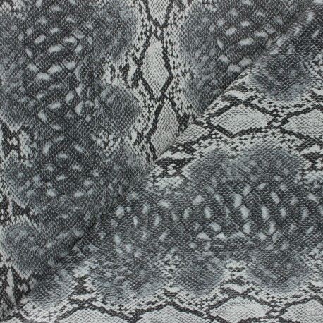 Snake Imitation leather fabric - Green Merope x 10cm