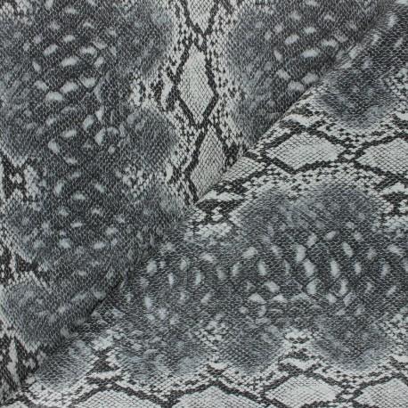 Tissu Simili cuir Serpent Merope - vert x 10cm
