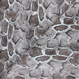 Snake Imitation leather fabric - Brown Merope x 10cm