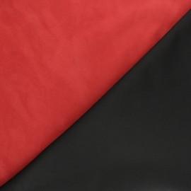 Woven base Velvet Lambskin Genuine Leather - Red