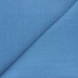 ♥ Coupon 20 cm X 145 cm ♥ Tissu Jeans Lurex Babe - bleu clair