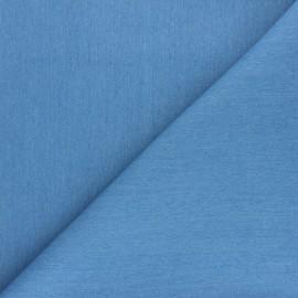 ♥ Coupon 60 cm X 145 cm ♥ Lurex Jeans fabric - light blue Babe