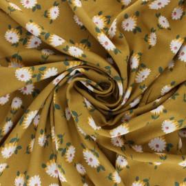 Tissu Viscose Laurette - Moutarde x 10cm