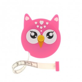Retractable measuring tape - pink Owl